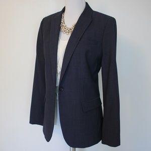 BANANA REPUBLIC Size 14 Blue Suit Jacket Blazer